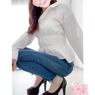 rienda - rienda ウエストギャザーペプラムシャツ♡リゼクシー デュラス好き