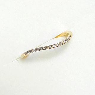 アガット(agete)のagete アガット K18YG  ウェーブ ダイヤモンド リング #7(リング(指輪))