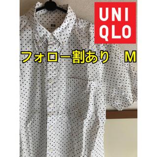 ユニクロ(UNIQLO)のユニクロ UNIQLO メンズ 半袖 シャツ ドット柄 総柄 トップス M(シャツ)