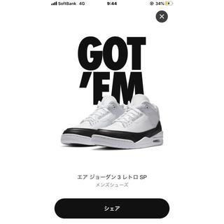NIKE - NIKE Air Jordan3×fragment