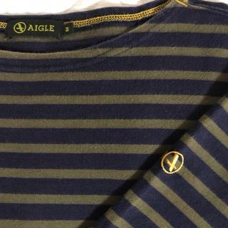 エーグル(AIGLE)のAIGLE エーグル Tシャツ 長袖 ボーダーカットソー(Tシャツ/カットソー(七分/長袖))