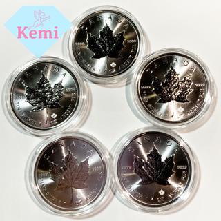 【5枚セット!】カナダ メイプル リーフ 純銀 シルバー コイン .999