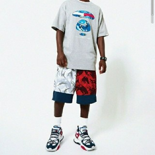 A BATHING APE - AAPE X TOMMY JEANS FLAG REVERSIBLE SHORT