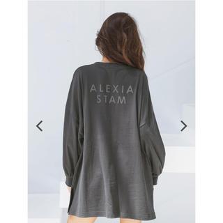 ALEXIA STAM - アリシアスタン ロングスリーブTシャツ チャコール