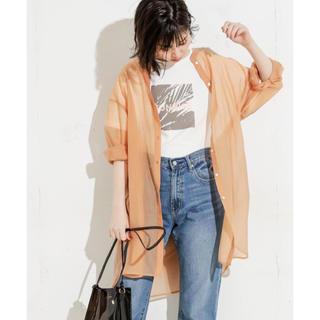 ナチュラルクチュール(natural couture)のバンドカラーシアーロングシャツ(シャツ/ブラウス(長袖/七分))