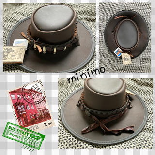 牛革 メンズ 帽子 ハット カーボーイ コスプレ インディアン クロコダイル