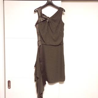 ビーシービージーマックスアズリア(BCBGMAXAZRIA)の8万新同BCBG☆総スワロフスキーワンピ ドレス(ロングワンピース/マキシワンピース)