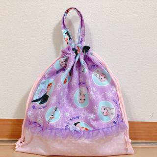 体操着袋 紫(外出用品)