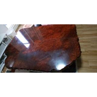◆アムカン様専用◆天然木無垢銘木一枚座卓テーブル花梨コブ(ローテーブル)