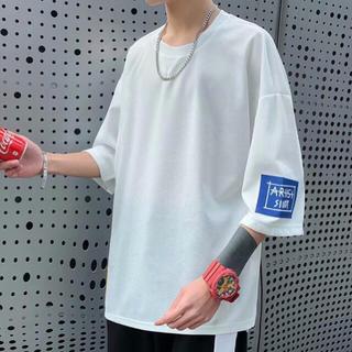 ビッグTシャツ メンズ 韓国 オルチャン ロゴT オーバーサイズ