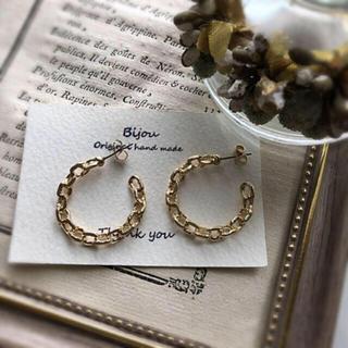 ZARA - *再々入荷* gold chain pierce