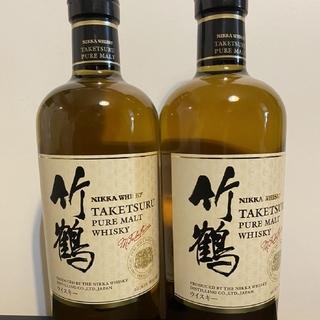 ニッカウイスキー(ニッカウヰスキー)のニッカ竹鶴 新ボトル2本セット(ウイスキー)