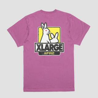 ヴァンキッシュ(VANQUISH)のFR2 XLARGEコラボTシャツ ラベンダー XL(Tシャツ/カットソー(半袖/袖なし))