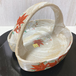 たち吉 - 希少 龍峰窯   手描き  菓子鉢   錦雲