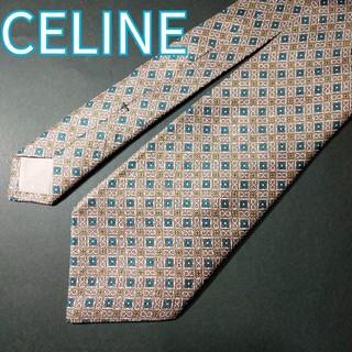 セリーヌ(celine)の【極美品】 CELINE 総柄 ネクタイ ベージュ(ネクタイ)