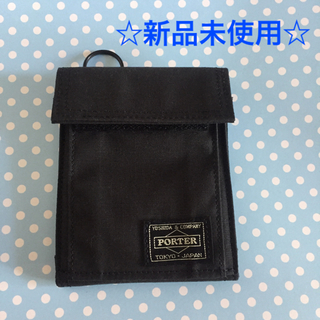ポーター(PORTER)のポーター 二つ折り財布 CUBE 黒(折り財布)