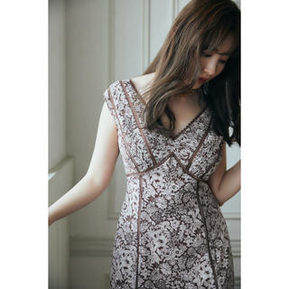 snidel - Her lip to Lace Trimmed Floral Dress