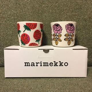 マリメッコ(marimekko)の新品未使用  マリメッコ   ラテマグ    マンシッカ  ヴィヒキルース(食器)