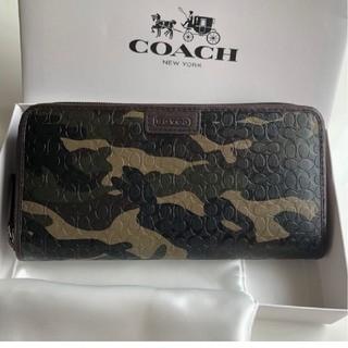 COACH - COACH長財布 迷彩グリーン