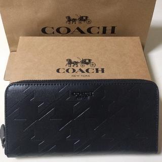 COACH - COACH長財布 ラウンドファスナーブラック