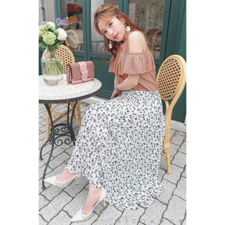 レディー(Rady)のミコアメリ 花柄プリーツスカート 新品タグ付き 送料無料(ロングスカート)
