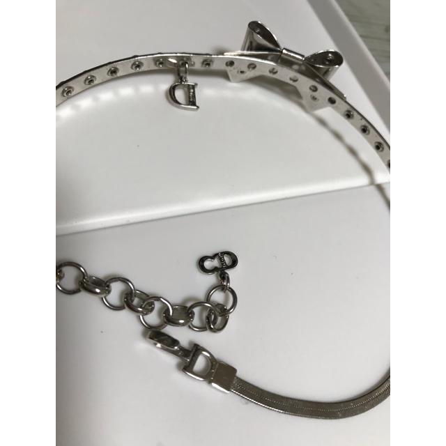 Dior(ディオール)のDior☆希少リボン型チョーカーネックレス レディースのアクセサリー(ネックレス)の商品写真