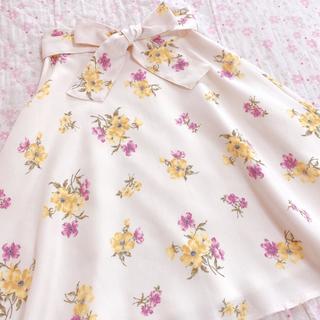 ミッシュマッシュ(MISCH MASCH)のミッシュマッシュ ♡ウエストリボンフラワーフレアスカート♡(ひざ丈スカート)