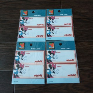 ディズニー(Disney)の定価千円 アイロン接着 ネームラベル ワッペン 名前シール ディズニー 4袋(ネームタグ)