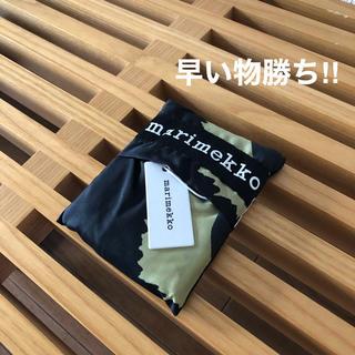 マリメッコ(marimekko)のマリメッコ エコバッグ トートバッグ Pieni Unikko ブラック(エコバッグ)