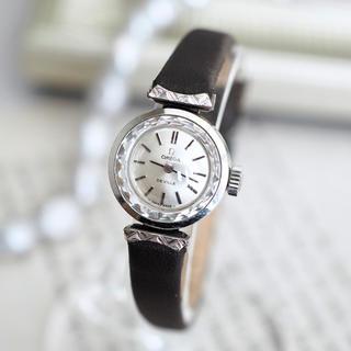 オメガ(OMEGA)の美品✨OMEGA K18WG 20μ カットガラス✨トゥモローランド agete(腕時計)
