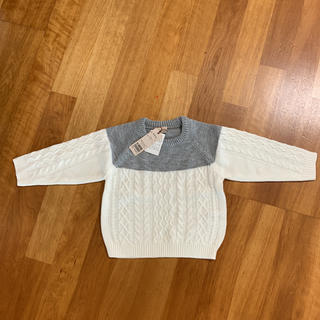 プティマイン(petit main)のプティマイン ケーブル編みセーター(ニット)