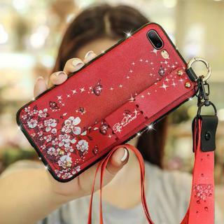 【iphone7/8 レッド】iphoneカバー バタフライ柄