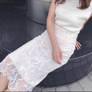 snidel - スナイデル レースタイトスカート