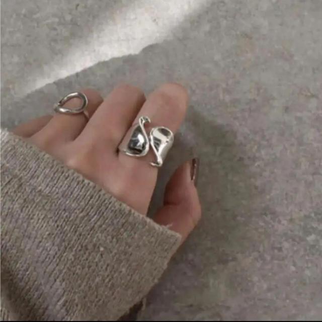 Mila Owen(ミラオーウェン)の大人気なため再入荷!tear drop ring silver925 レディースのアクセサリー(リング(指輪))の商品写真