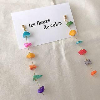 レイビームス(Ray BEAMS)のcolour shell long pierce/earring(ピアス)