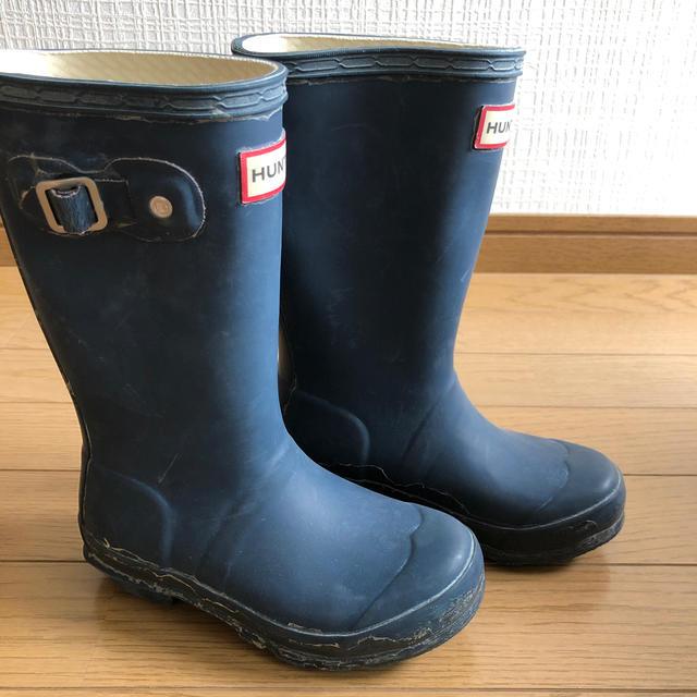 HUNTER(ハンター)のHUNTER レインブーツ 長靴 17cm キッズ キッズ/ベビー/マタニティのキッズ靴/シューズ(15cm~)(長靴/レインシューズ)の商品写真