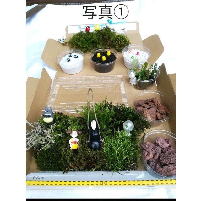 おまけ付き(^_^)♥特C ブランコVer.♥苔・フィギュアてんこ盛りセット ハンドメイドのフラワー/ガーデン(その他)の商品写真