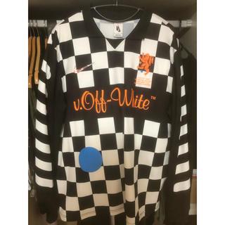 オフホワイト(OFF-WHITE)のoff-white nike soccer jersey M(Tシャツ/カットソー(七分/長袖))