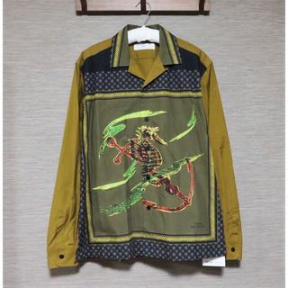 TOGA - TOGA VIRILIS Panel print cotton shirt 46