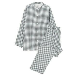 MUJI (無印良品) - 新品 無印良品脇に縫い目のない 二重ガーゼスタンドカラーパジャマ
