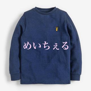 ネクスト(NEXT)の【新品】next ネイビー ピケ長袖Tシャツ(オールド)(Tシャツ/カットソー)