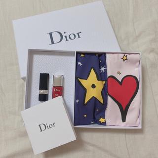 ディオール(Dior)のDIOR バースデーギフト 巾着袋 口紅 ネイル プレゼント 新品未使用(ノベルティグッズ)