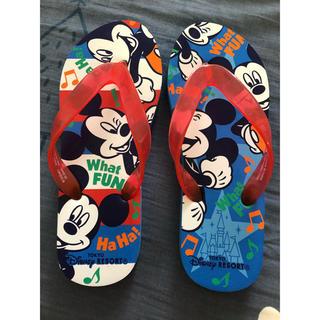 ディズニー(Disney)のディズニーのミッキーサンダル 22-23cm(サンダル)