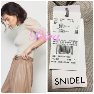 snidel - 完売色🌷新作新品🍀スナイデル シアースリーブニットプルオーバー