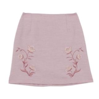 ダズリン(dazzlin)のdazzlin刺繍台形キュロットスカートピンク(ミニスカート)