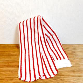 クツシタヤ(靴下屋)の靴下屋 ソックス 赤白 ストライプ(ソックス)