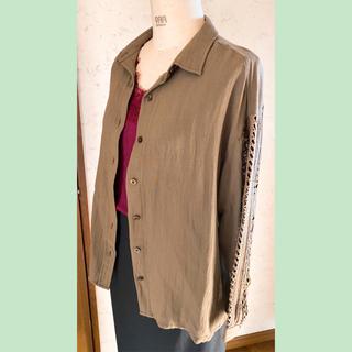 ローズバッド(ROSE BUD)の袖レースシャツ(シャツ/ブラウス(長袖/七分))