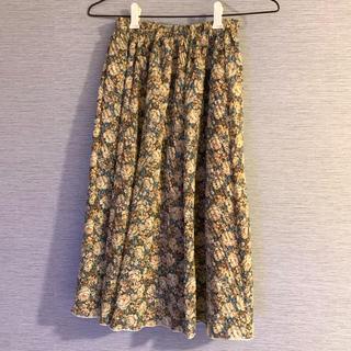 サンタモニカ(Santa Monica)の古着 花柄スカート(ひざ丈スカート)