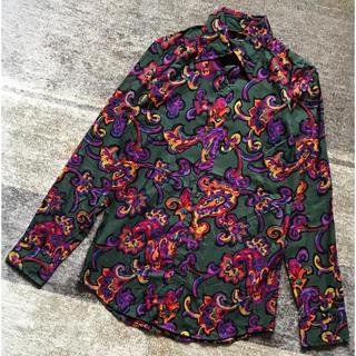 ドルチェアンドガッバーナ(DOLCE&GABBANA)の芸術的な1枚 DOLCE&GABBANA 花柄 総柄 長袖 ドレスシャツ 39(シャツ)
