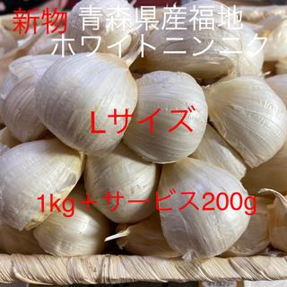 新物 青森県産福地ホワイトニンニク Lサイズ1200g(野菜)